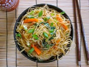 Singapore Noodles above